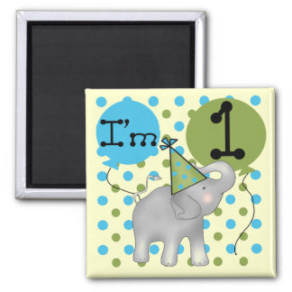 Elephant I'm 1 First Birthday Tshirts and Gifts Magnet