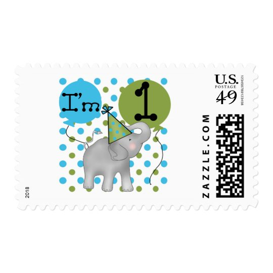 Elephant I'm 1 First Birthday Tshirts and Gifts Postage