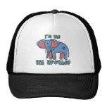 Elephant I'm the Big Brother Trucker Hats