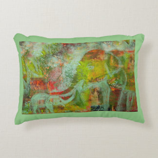 Elephant image accent pillow