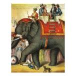 Elephant image - Vintage Membrete A Diseño