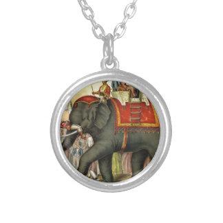 Elephant image - Vintage Personalized Necklace