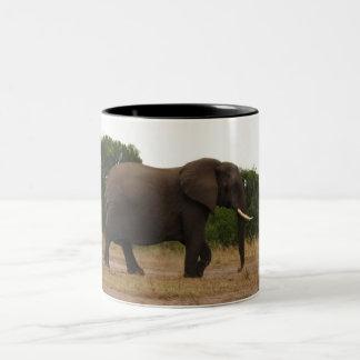 Elephant in Africa Two-Tone Coffee Mug