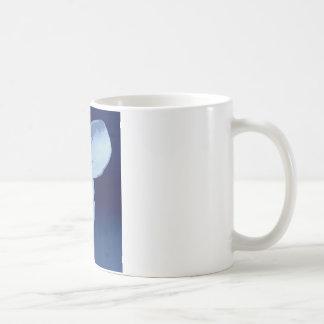 Elephant in blue coffee mug