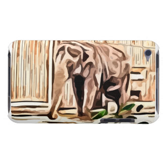 elephant. in captivity painting. iPod touch case