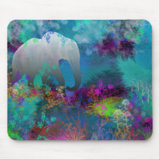 Elephant In Future Fantasyland - Tropical Mouse Pad