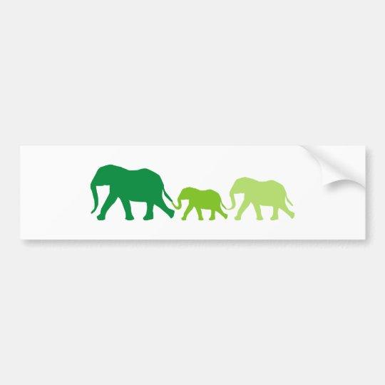 Elephant in Green Bumper Sticker
