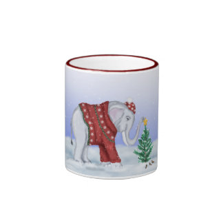 Elephant in Hand Knitted Sweater Mug