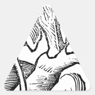 Elephant in Hortus sanitatis by Martin Schongauer Triangle Sticker