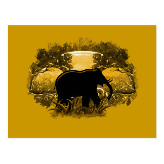 Elephant in Nature Postcard