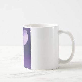 Elephant in purple coffee mug