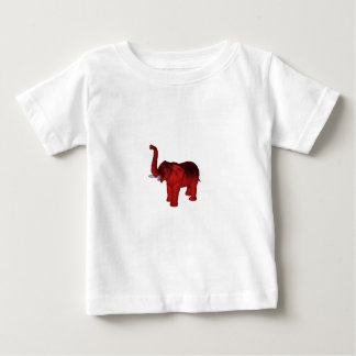 Elephant In Red Baby T-Shirt