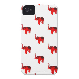 Elephant In Red iPhone 4 Case-Mate Case