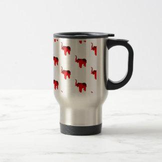 Elephant In Red Travel Mug