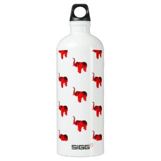 Elephant In Red Water Bottle