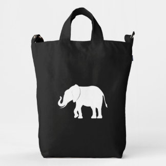 Elephant in Silhouette Duck Bag