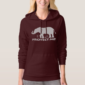 Elephant in Silhouette: Protect Me! Hoodie