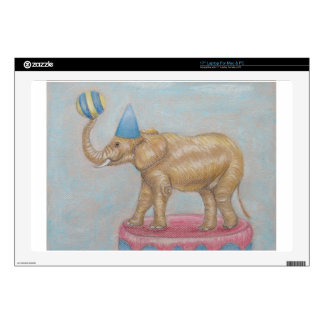 """elephant in the circus 17"""" laptop decal"""