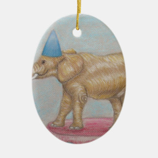 elephant in the circus ceramic ornament