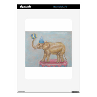 elephant in the circus decal for iPad
