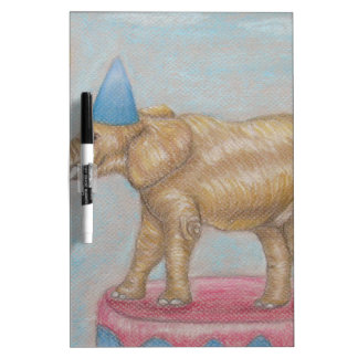 elephant in the circus dry erase board