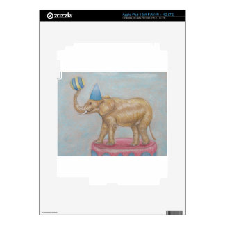 elephant in the circus iPad 3 decal