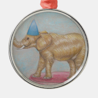 elephant in the circus metal ornament