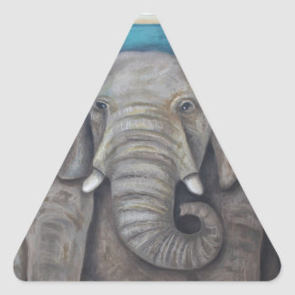 Elephant In The Room 2 Triangle Sticker