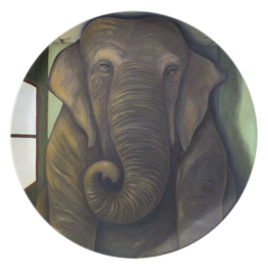 Elephant In The Room Dinner Plate