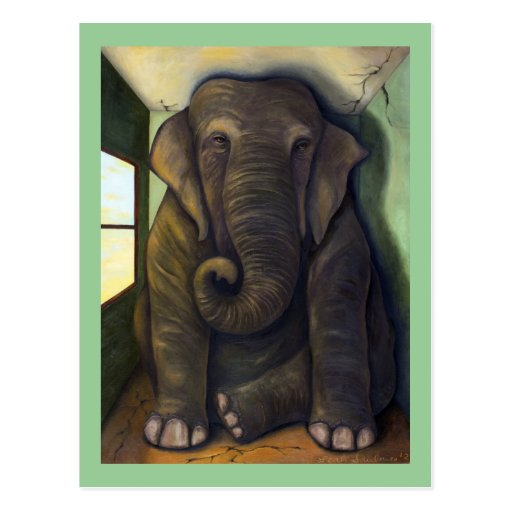 Elephant In The Room Post Card