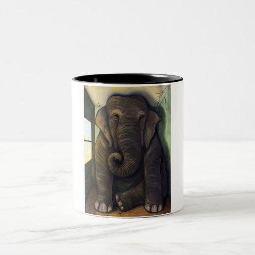 Elephant In The Room Two-Tone Coffee Mug