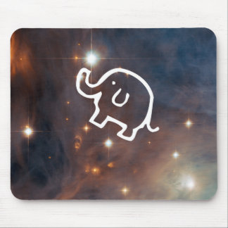 Elephant in the Stars Mouse Pad
