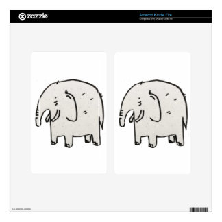 Elephant in the wild life decal for kindle fire
