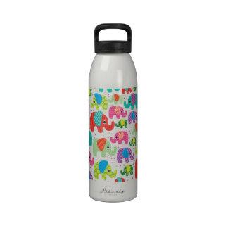 Elephant india pattern water bottle