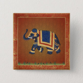 Elephant India Yoga red blue samples Button