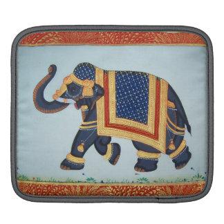 Elephant indian blue grey red gold  iPad sleeve