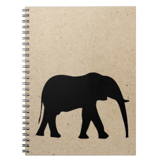 elephant ink stamped journal spiral note books