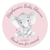 Elephant Jungle Animals Baby Shower Favor Sticker