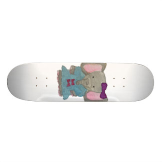 Elephant Jungle Friends Baby Animal Water Color Skateboard Deck