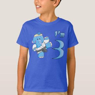 Elephant Karate 3rd Birthday T-Shirt