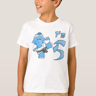 Elephant Karate 5th Birthday T-Shirt