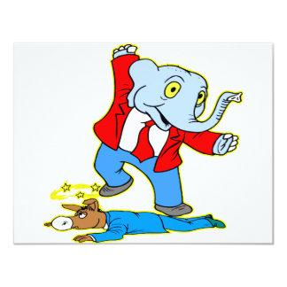 Elephant Kicking Donkey Card