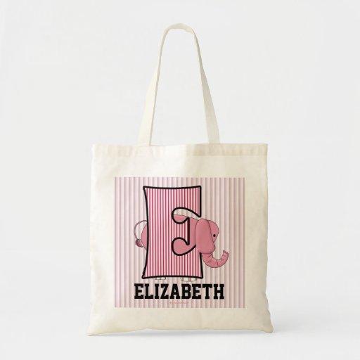 """Elephant Kids Monogram """"E"""" Tote Bag"""