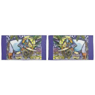 Elephant king design king size pillowcase set