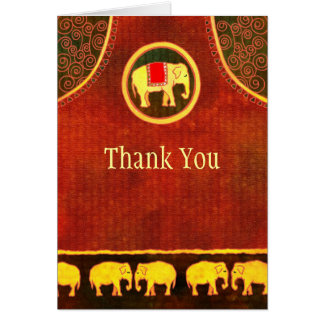 Elephant Kingdom Business Thank You Card