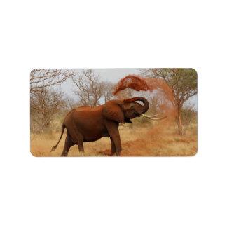 Elephant Custom Address Labels