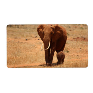 Elephant Custom Shipping Label