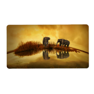 Elephant Shipping Label
