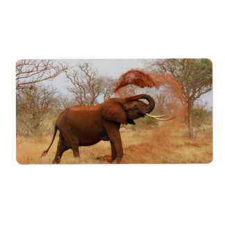 Elephant Personalized Shipping Labels