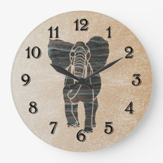 Elephant Large Clock